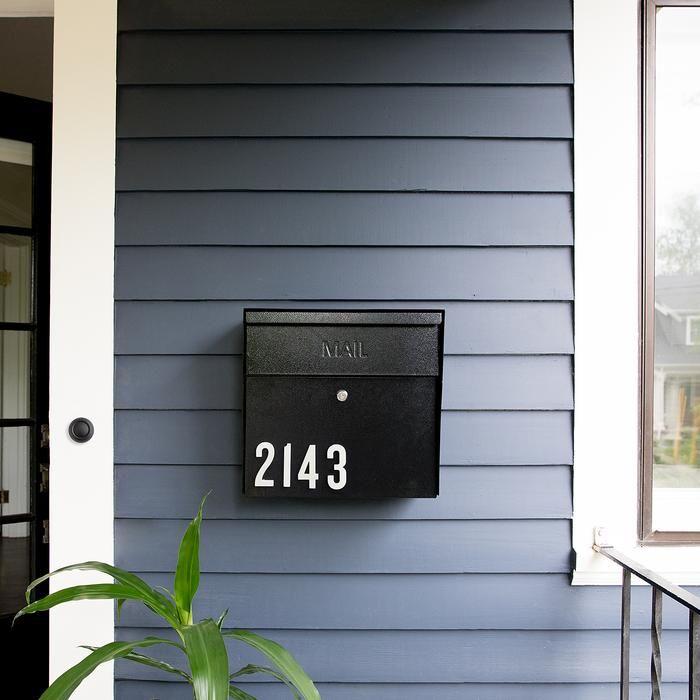 Locking Mailbox Black In 2020 Mailbox On House Steel Mailbox Mounted Mailbox