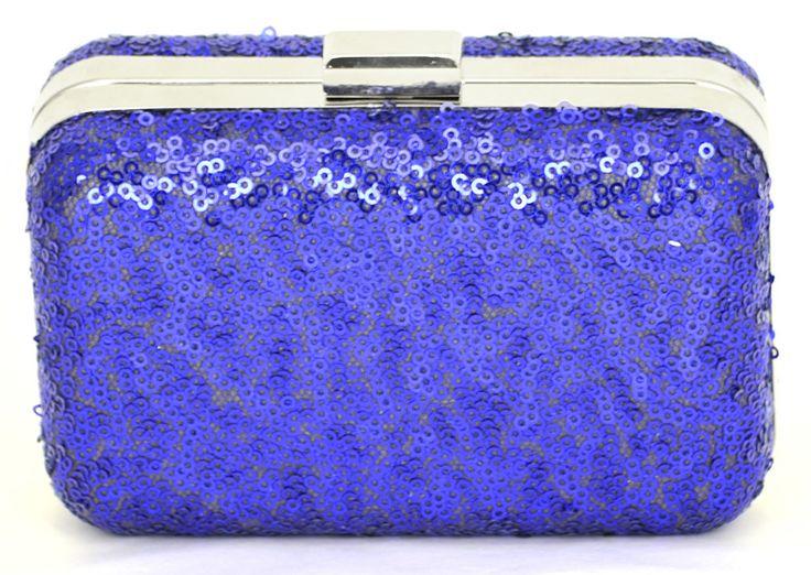 Bolsa De Festa Azul Bic : Bolsa de festa em paete na cor azul klein o