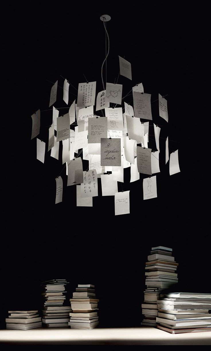 Zettel'z 5 - Products - Ingo Maurer GmbH could hang up something like this and put little sketches up like this!!