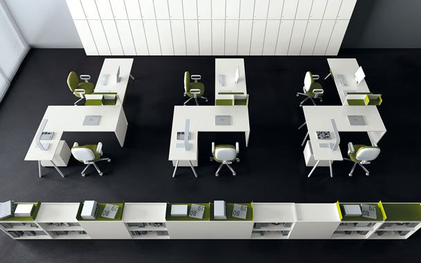 Image result for open plan office furniture