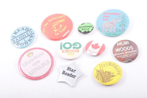 Lot of Pins Souvenirs Book Lovers Goosebumps Librarian Reader Travel  The Pink Room  161231 by ThePinkRoom