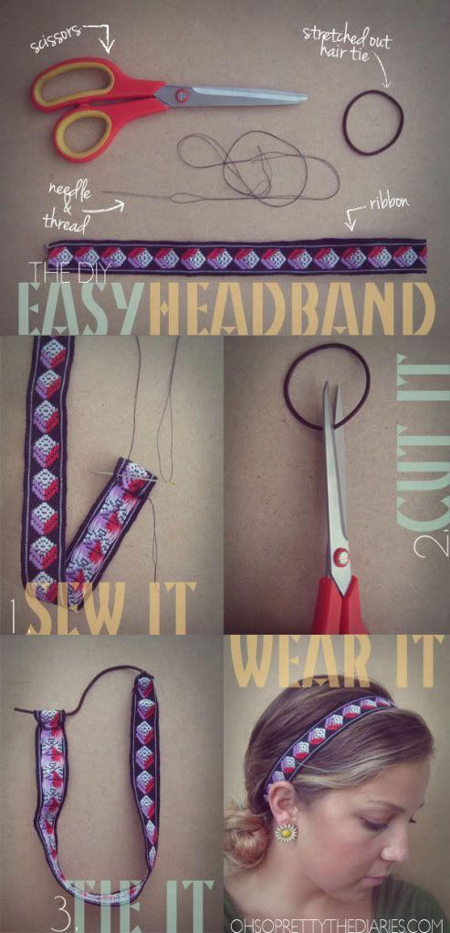 Easy Headband   Oh So Pretty