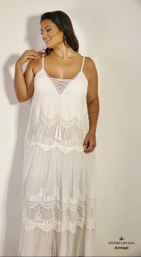 Boho Plus Size Wedding Gown For Unique And Free Spirited Curvy