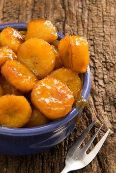 Rezept für Kochbananen im Karamellsoße.