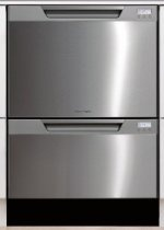 Fisher Paykel DD24DCTX6v2 Tall Double Dishwasher Drawer - Stainless Steel with Recessed Handle