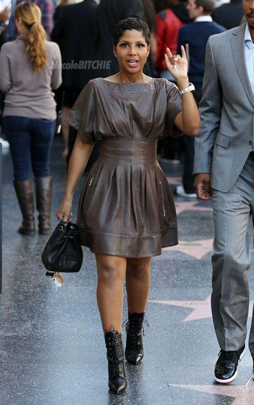 Toni Braxton attends Babyface Hollywood Walk of Fame ...