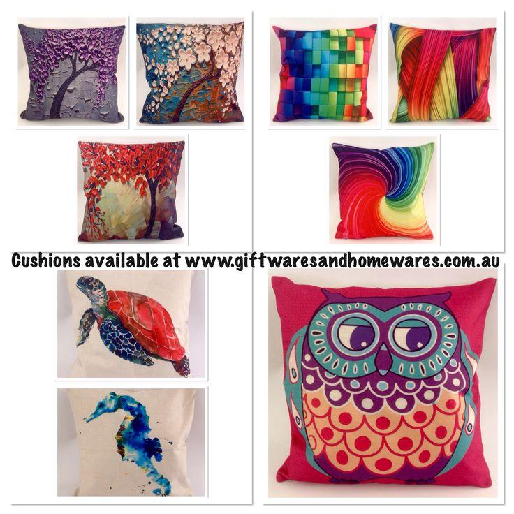 Cushions available at www.giftwaresandhomewares.com.au