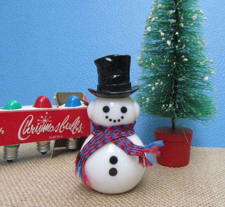 Snowman Figurine Christmas Decoration Glass Avon Bottle Moonwind Fragrance Vintage 70s Retro Stocking Stuffer Fun Collectible Gift by WillowValleyVintage on Etsy
