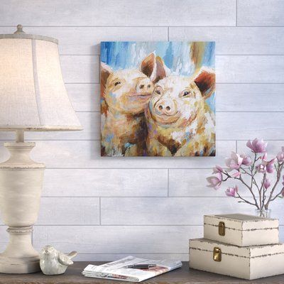 """August Grove 'Mud Buddies' Acrylic Painting Print on Gallery Wrapped Canvas Size: 32"""" H x 32"""" W x 1.5"""" D"""
