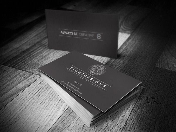 eight designs business cards design