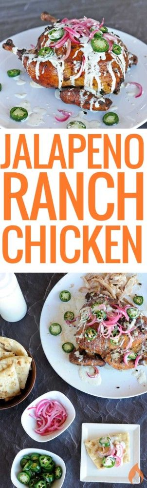 You'll need some extra napkins for this juicy smoked jalapeno ranch chicken smothered in jalapeno ranch dressing. Recipe includes directions for charcoal grills, pellet smokers, gas grills and the oven.