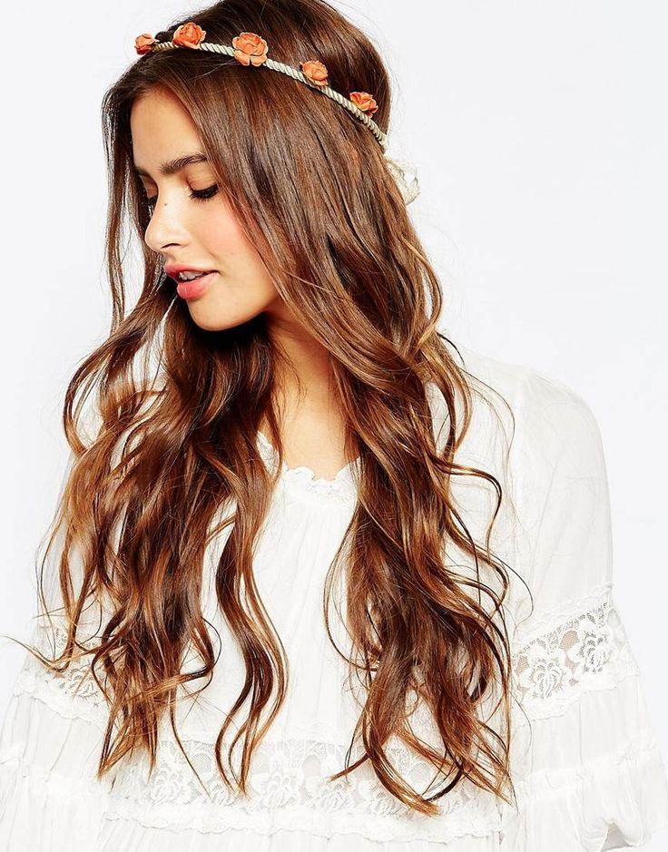 Haarband von Johnny Loves Rosie Grobes Schurband mit kleinen Rosen Häkeldesign Kontakt mit Flüssigkeiten vermeiden 70% Polyester, 30% Papier
