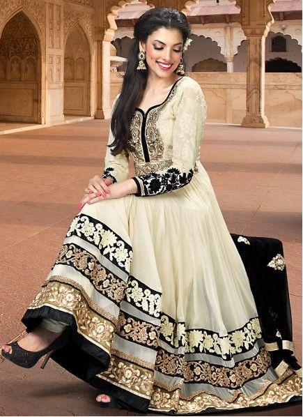 BEST SELLERS!!  Elegant Black And White Resham Work Salwar Kameez  Product Order Link : http://www.maplefashions.com/salwar-kameez/elegant-black-and-white-resham-work-salwar-kameez_5066#.U2-8iPmSyOQ  Call or Whatsapp : +919377152141 SHOP NOW!!
