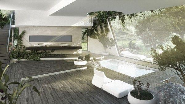 Napfényben úszó fürdőszobák - luxus kényeztetés!,  #design #fürdés #fürdő #fürdőszoba #luxus #napfény #natúr #otthon24 #relaxálás #természetközeli #természetesfény #tisztálkodás, http://www.otthon24.hu/napfenyben-uszo-furdoszobak-luxus-kenyeztetes/