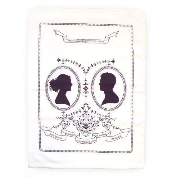 Commemorative Tea Towel Favour