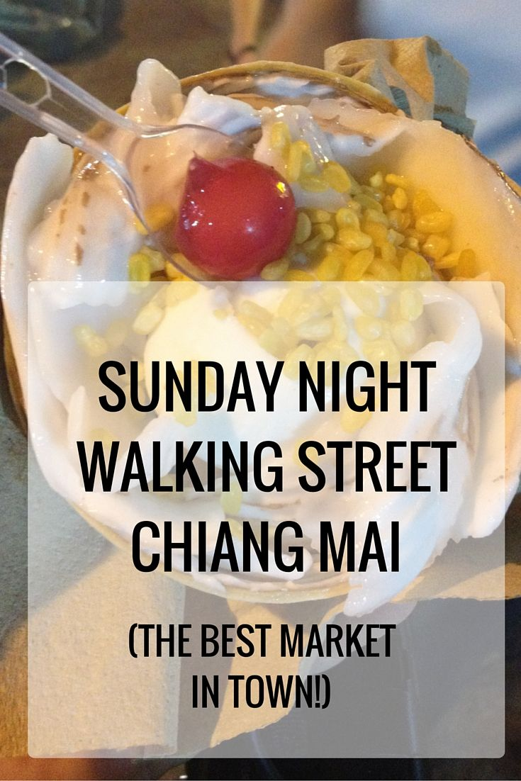 On my first Sunday night in Chiang Mai, I took a trip with a few other travel bloggers to the Sunday Night Walking Street markets..