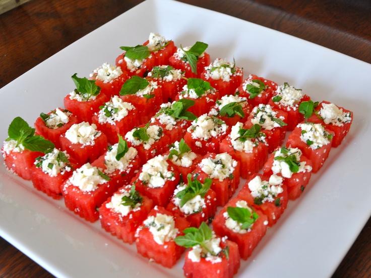 Watermelon , feta, & mint bites   Things for Tummys ...