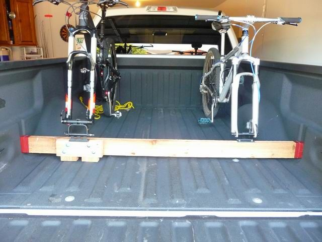 Building your own bike rack for the truck