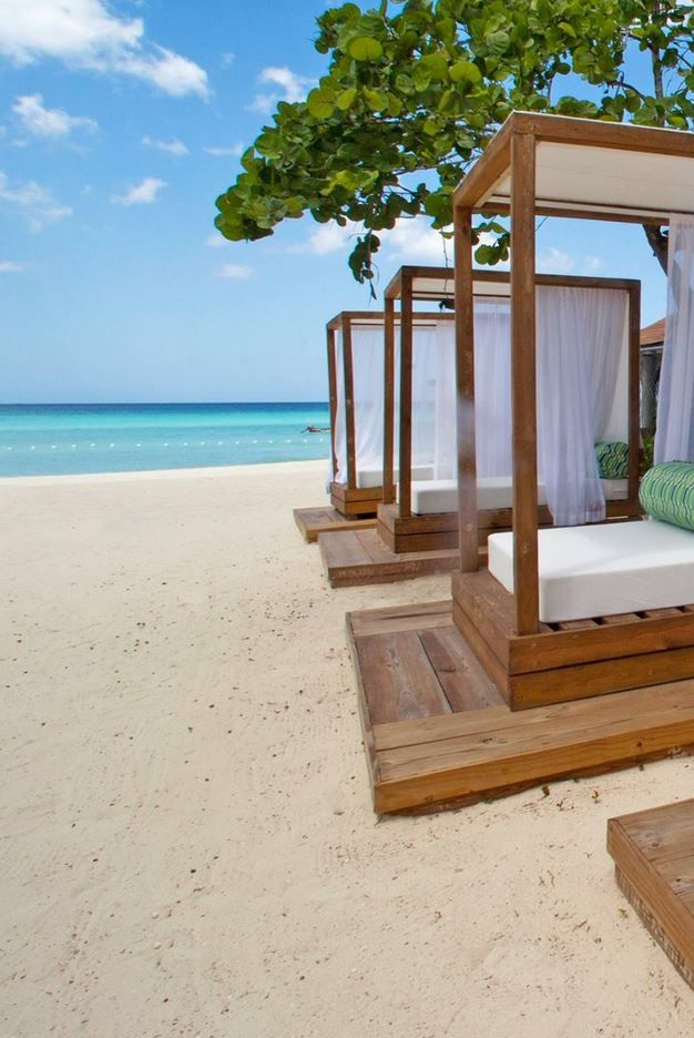 Jump on over to a cabana on the beaches of #Jamaica.