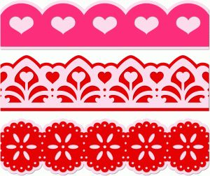 Silhouette Online Store - View Design #54499: 3 heart borders