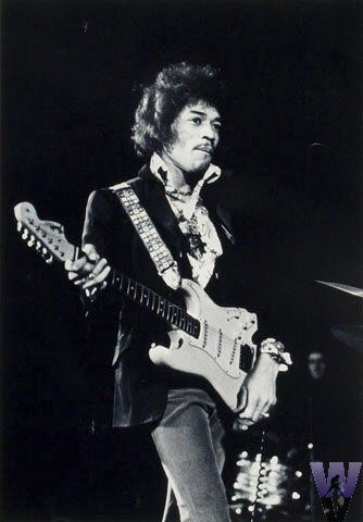 Jimi Hendrix Vintage Print - Vintage photos and prints from the rock and roll scene and music genre.