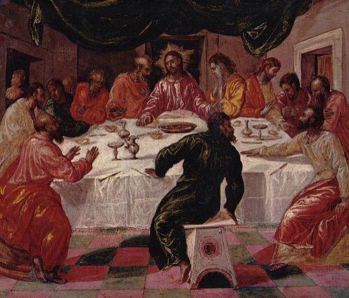 La última cena  El Greco 1568