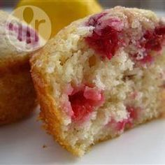 Frambozen-citroenmuffins @ allrecipes.nl