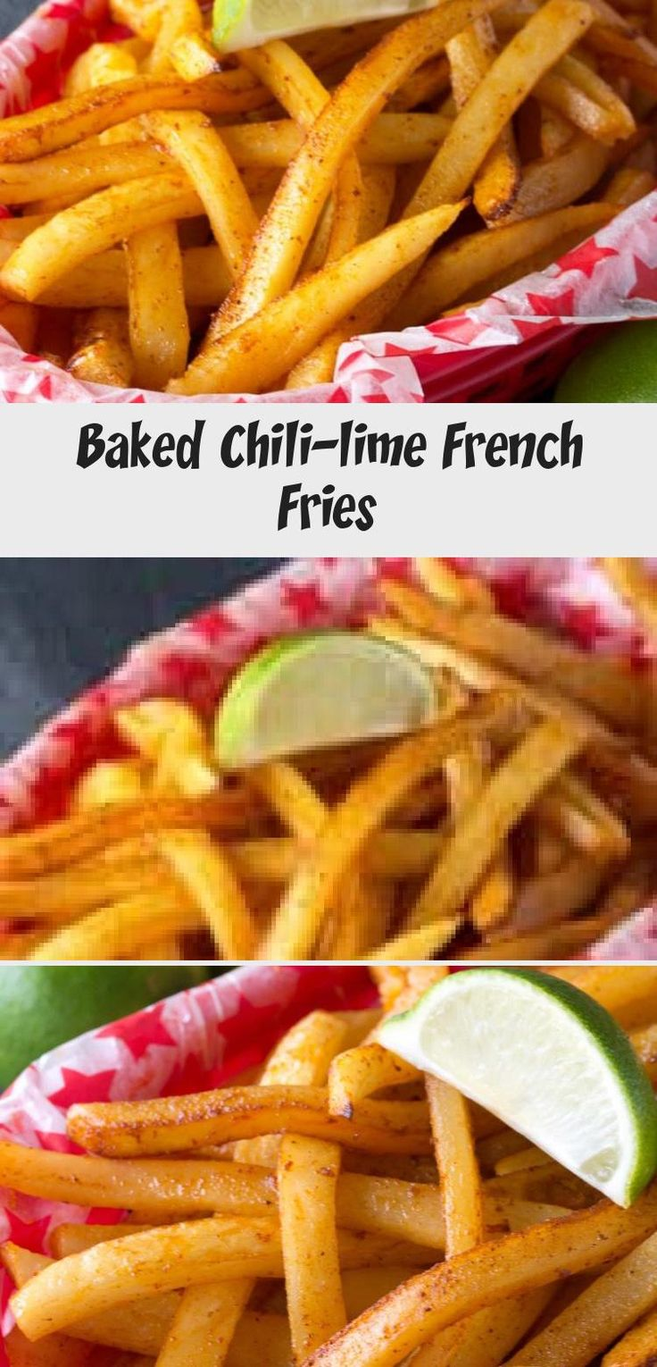 Baked Chili-lime French Fries - Recipes in 2020 | Soup recipes chicken noodle. French fries baked. Chili lime