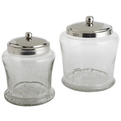 Crackle Bath Canisters