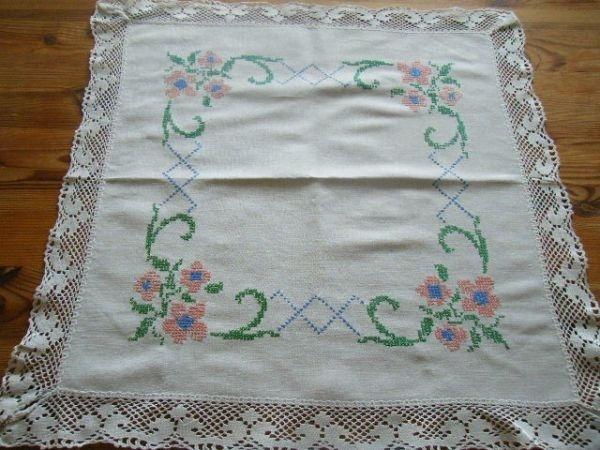 Scandinavian Tablecloth 北欧スウェーデン 在庫処分 手刺繍テーブルクロス インテリア 雑貨 家具 Modern ¥800yen 〆05月26日