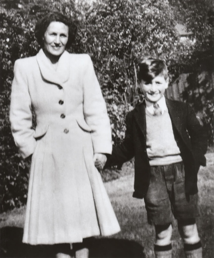 Young John Lennon with his aunt Mimi.