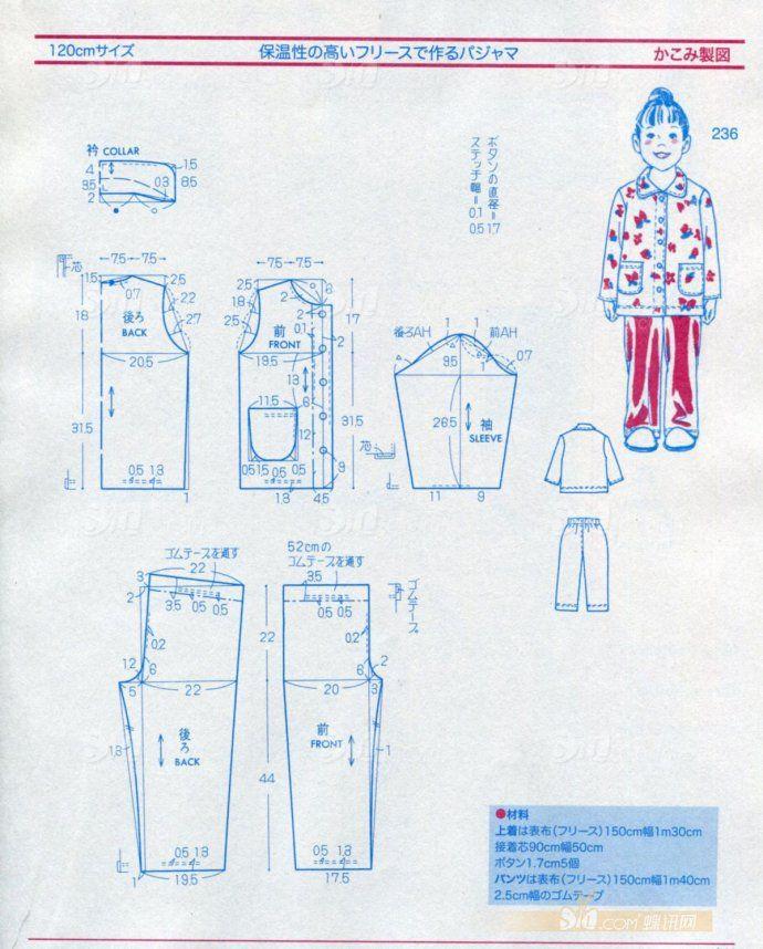 儿童裤子裁剪图收藏