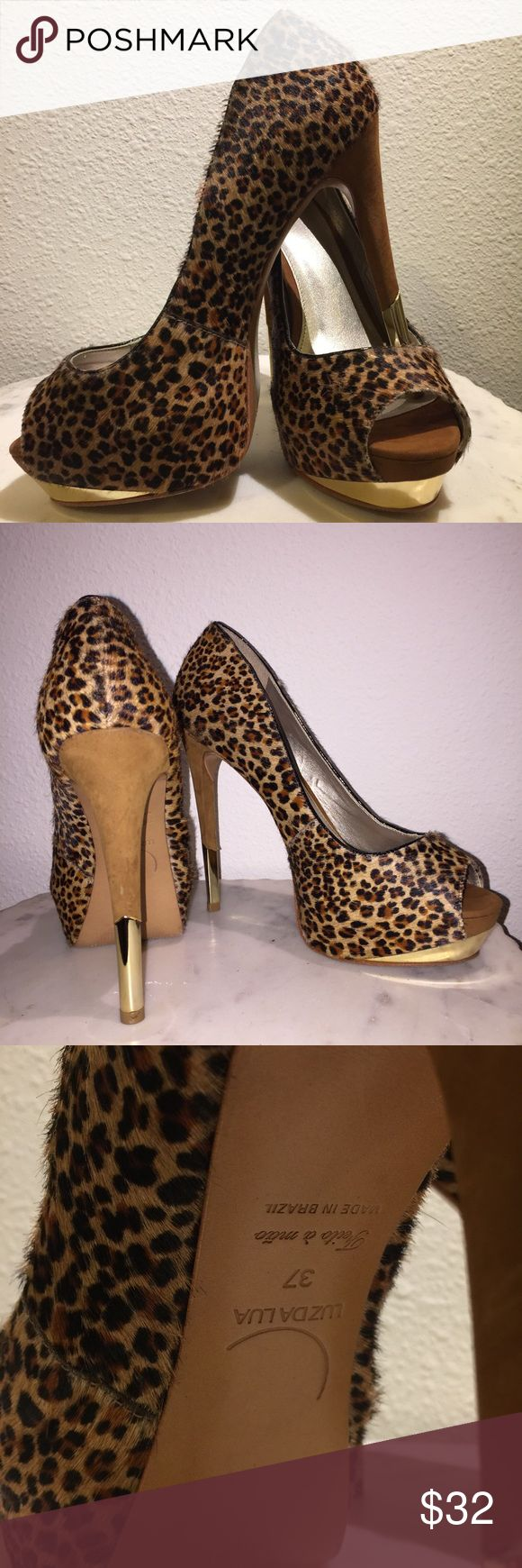 Leopard hair pumps Soft hair and great leather. A head turner shoe. Made in Brazil luz da lua Shoes Heels