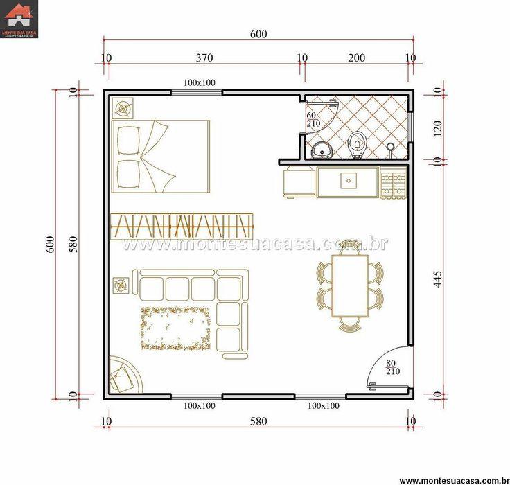 Casa 1 Quartos - 36m²