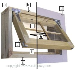 """How to Make a window frame. The window frame in this project is made out of 2x6 dressed/surfaced lumber which is a common stock size. However, the actual size of the lumber when dressed finishes at approximately 1-1/2""""x 51/2"""" and this may vary slightly from place to place so make necessary allowances."""