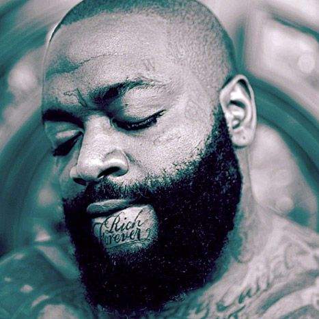 "Rick Ross Gets Face Tattoo That Says ""Rich Forever"" on His Chin ..."