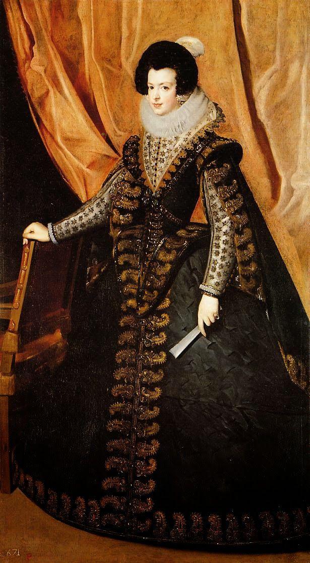 La reina Isabel de Borbón, por Diego Velázquez. (1625).