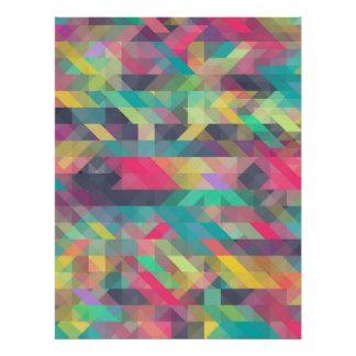 Motif géométrique coloré frais de triangles poster