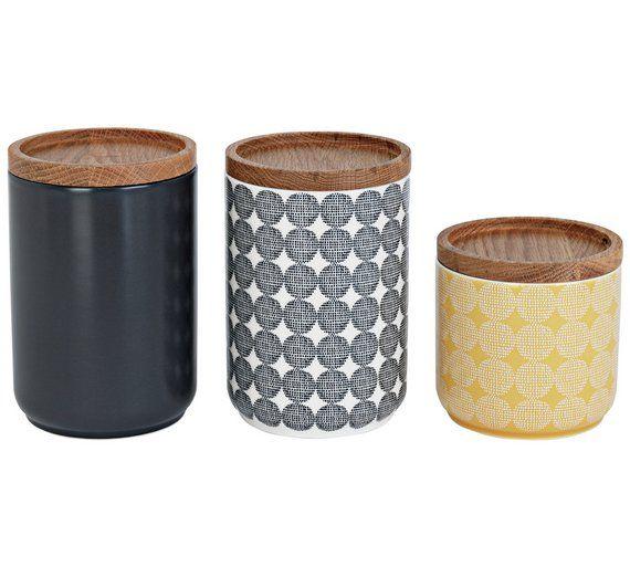 Buy Sainsbury S Home Helsinki Set Of 3 Storage Jars