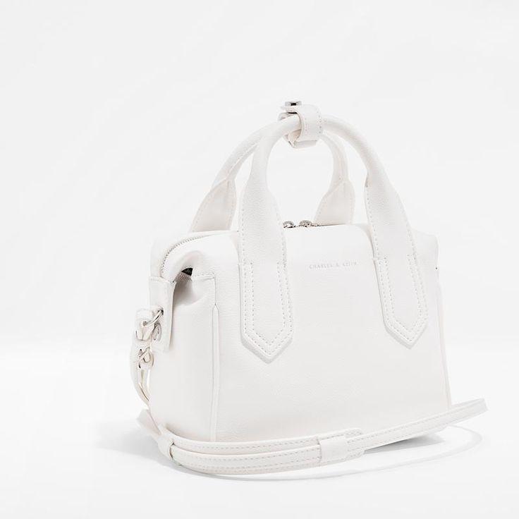 White Soft Bowling Bag | CHARLES & KEITH