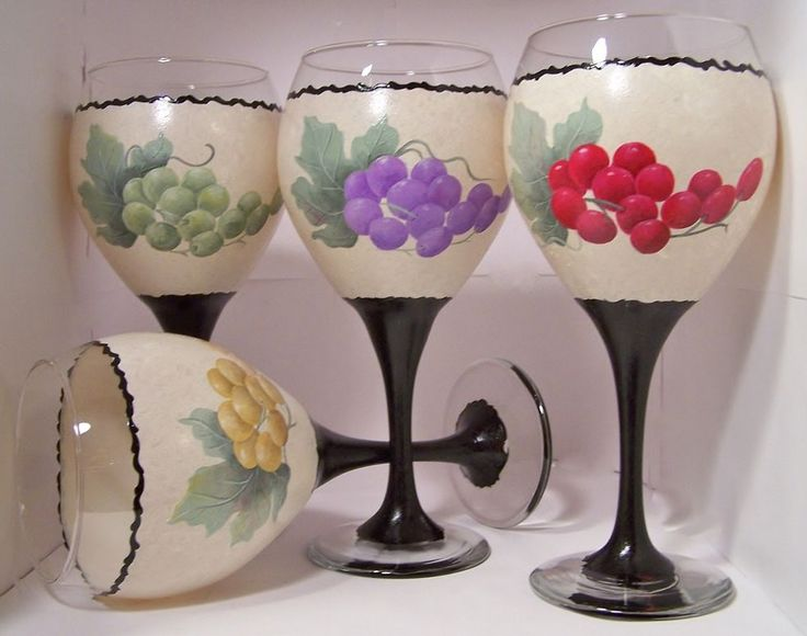 166 best my hand painted glass images on pinterest hand for Most beautiful wine bottles