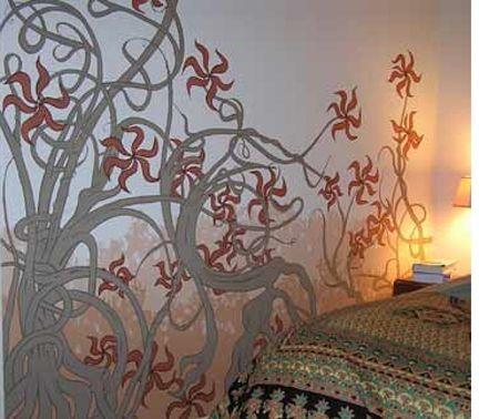 33 best sweet murals images on pinterest murals art for Art nouveau mural