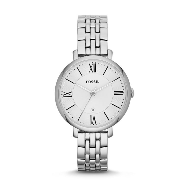 Seriously perfect! Fossil Jacqueline Three-Hand Stainless Steel Watch ES3433 | FOSSIL®