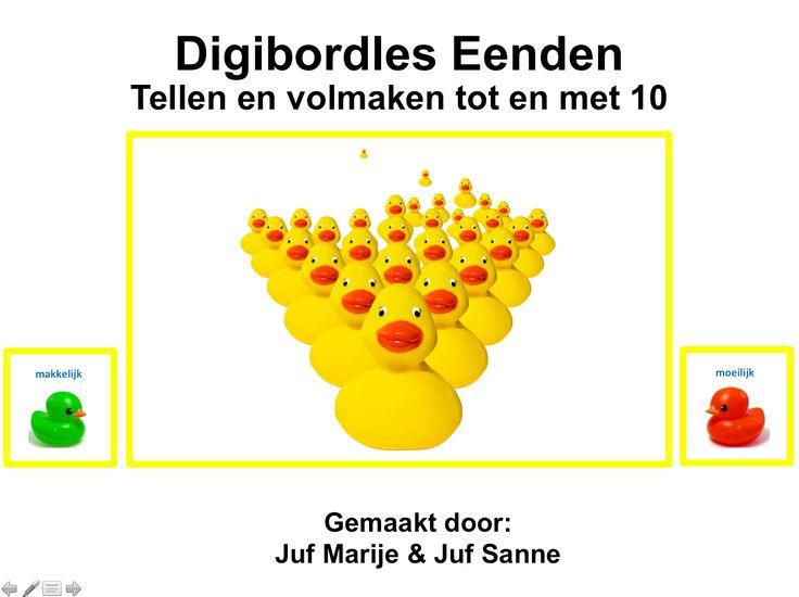 digibordles eenden tellen en volmaken t/m 10