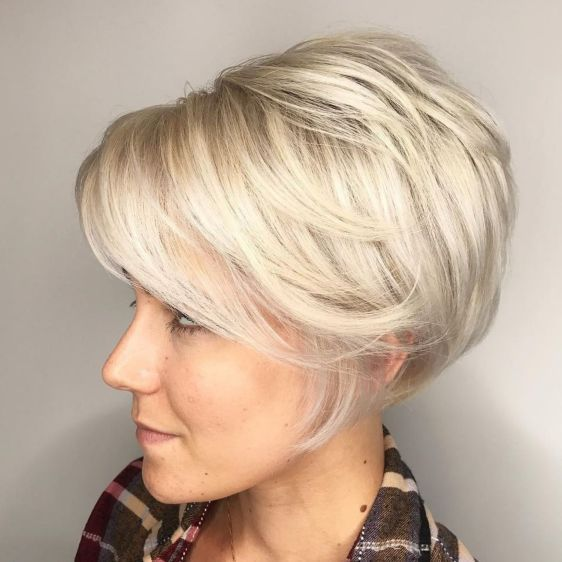 Long Pixie with Swoopy Layers