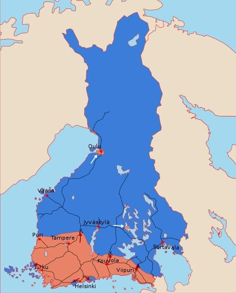 Finnish Civil War map