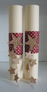 Glittery Star Candles