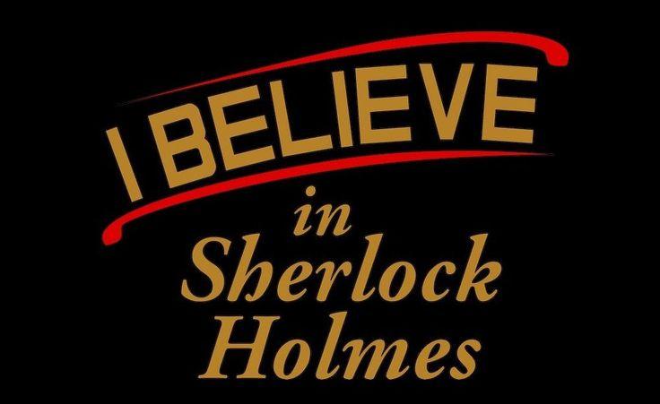 I Believe in Sherlock Holmes t-shirt Fandom T-shirt Sherlock Holmes Tee shirt  #Hanes #ShortSleeve