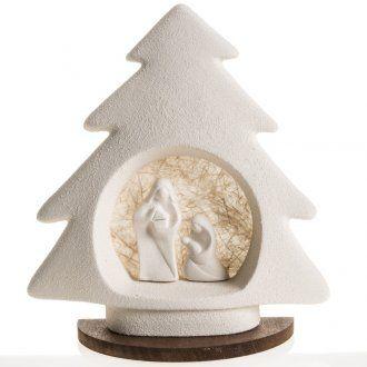 Árbol de navidad con base beige en arcilla   venta online en HOLYART