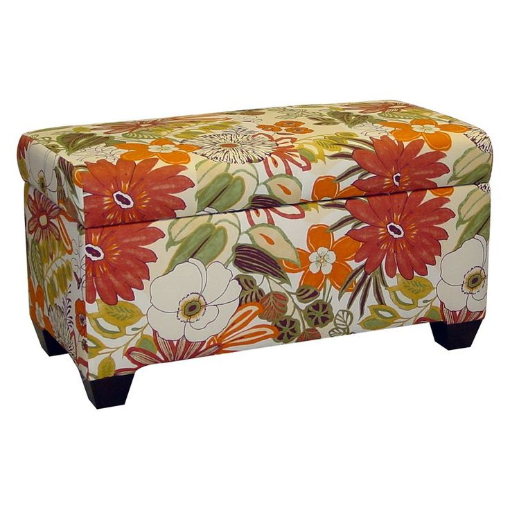 Skyline Lilith Marigold Upholstered Storage Bench | from hayneedle.com